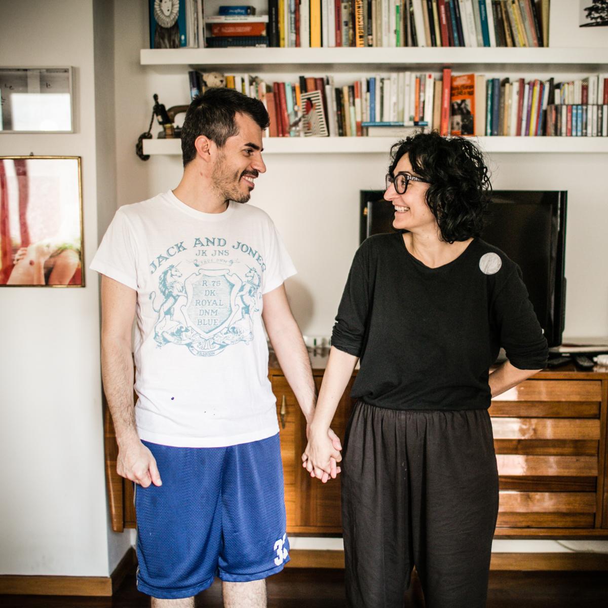 sposi in pigiama foto matrimonio torino reportage