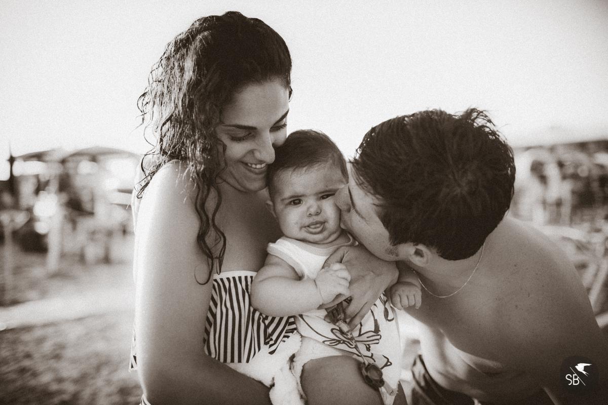 fotografie di famiglia al mare