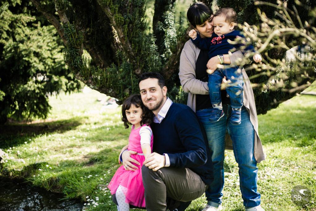 fotografia della famiglia al parco