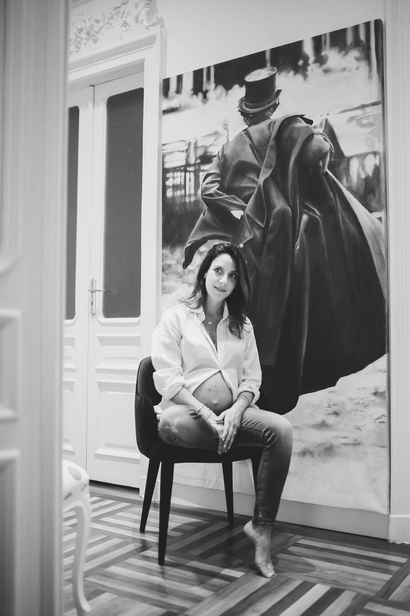 ritratto fotografico di francesca in attesa della sua seconda figlia