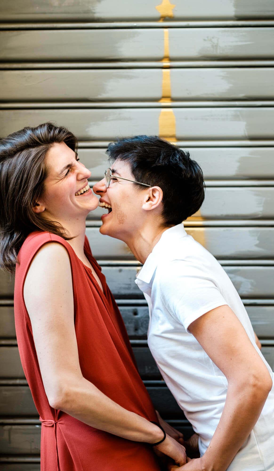 foto di coppia nel centro di Torino